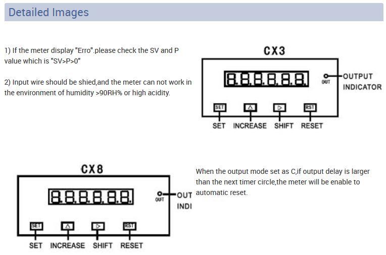 CX INFO 5 - شمارنده دیجیتال توکی Toky مدل CX3-PS61A