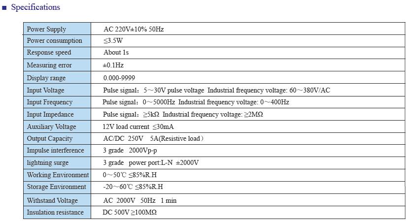 FA INFO 2 - فرکانس متر و دورسنج توکی Toky مدل FA8-RB10
