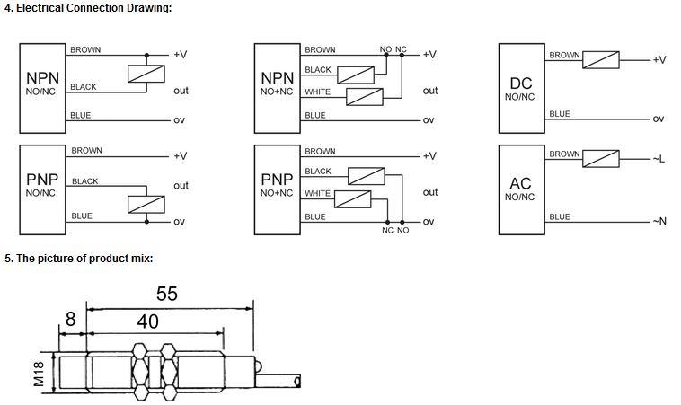 PES INFO 4 - سنسور نوری توکی Toky مدل PES-D18POC50D