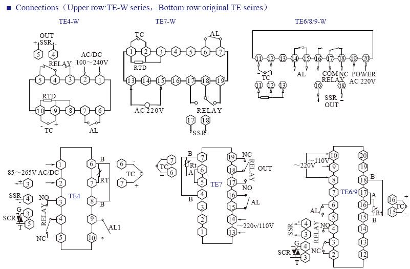 TE INFO 4 - کنترلر دما توکی Toky مدل TE8-RB10W