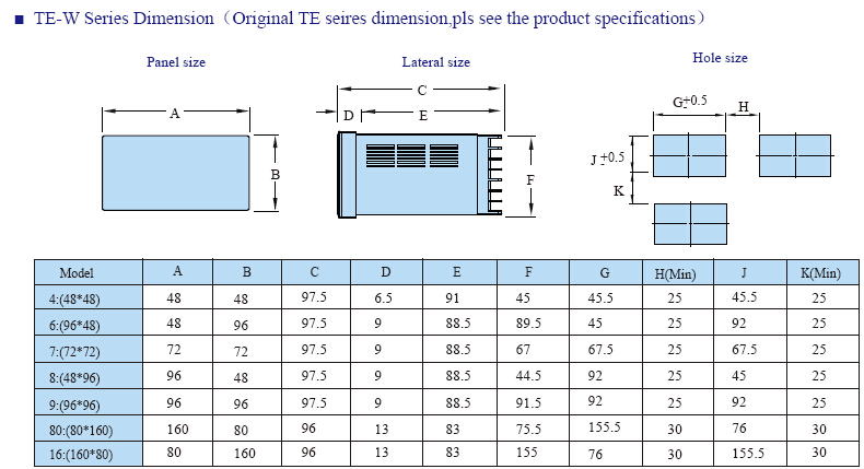 TE INFO 5 - کنترلر دما توکی Toky مدل TE8-RB10W