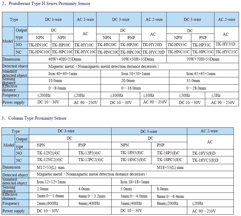 TL INFO 5 - سنسور القایی توکی Toky مدل TL-EN5B